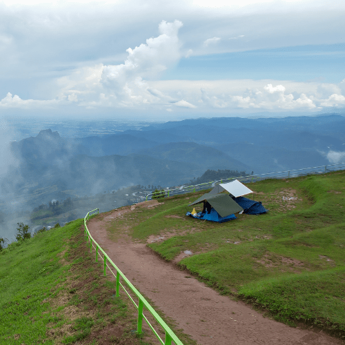 camp on a higher ground
