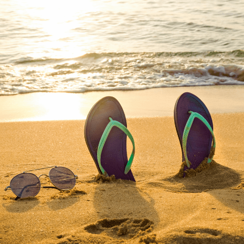 Comfortable Flip-flops For Yourself - road trip with toddlers