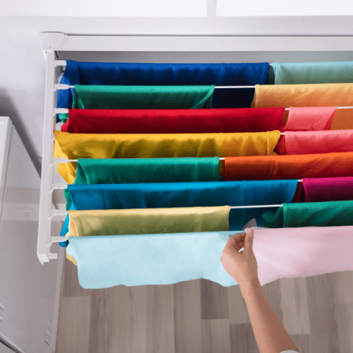 Dry clothes inside and reduce ventilation to minimum