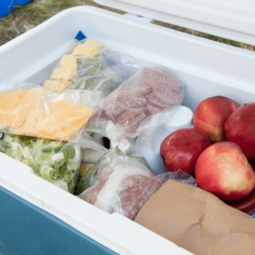 Strategically Arrange Food Inside The Cooler To Keep Food Cold & Safe While Going Camping